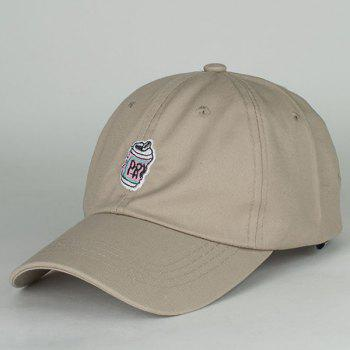 Chic Beverage Can Embroidery Outdoor Sunscreen Women's Baseball Cap