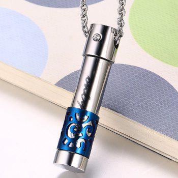 Openable Rhinestone Only Love Alloy Necklace - SILVER