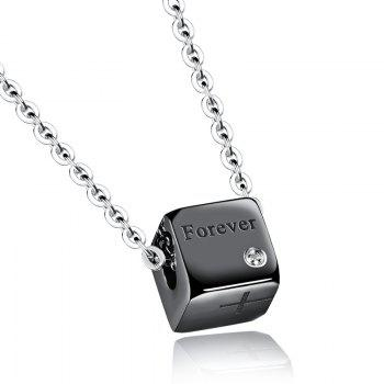 Chic Rhinestone Cross Square Necklace For Men