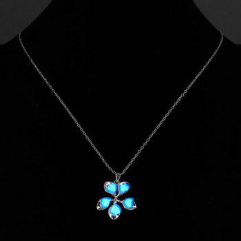 Noctilucent Floral Pendant Necklace