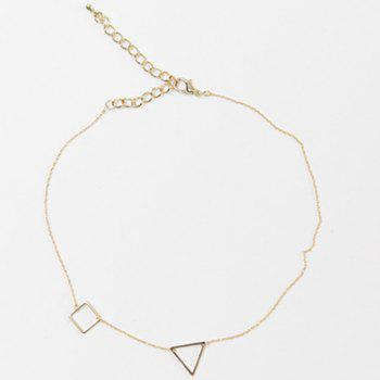Hollow Out Triangle Square Necklace