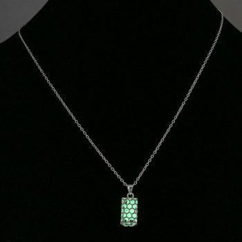 Noctilucent Honeycomb Structure Necklace