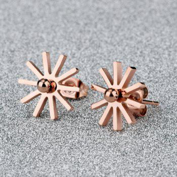 Pair of Floral Shape Stud Earrings
