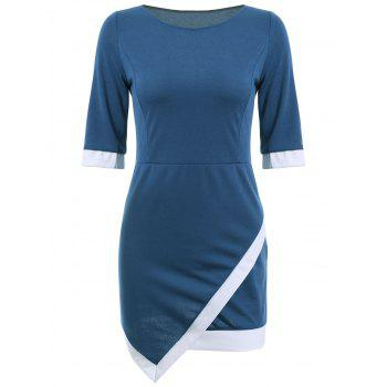 Mini Asymmetric Sheath Dress