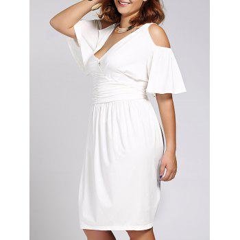 Trendy Plus Size V Neck Short Sleeve Dress For Women
