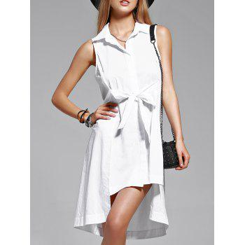 Trendy Pure Color Shirt Sleeve Flounce Dress For Women