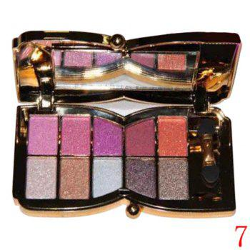 Cosmetic 10 Colours Sparkly Diamond Eye Shadow Palette with Mirror and Brush - #07