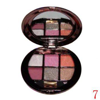 Cosmetic 6 Colours Sparkly Diamond Eye Shadow Palette with Mirror and Brush - #07