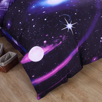 Chic 3D Galaxy Pattern Duvet Cover 4 PCS Bedding ( Without Comforter ) - COLORMIX