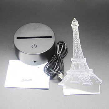 Gradient Color 3D Eiffel Tower Shape Touch Switch LED Night Light - SILVER