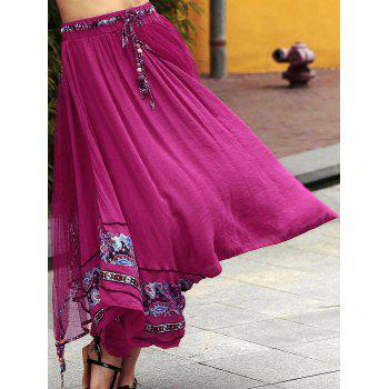 Stylish Overlayed Irregular Women's Full Skirt - ONE SIZE(FIT SIZE XS TO M) ONE SIZE(FIT SIZE XS TO M)