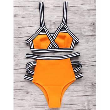 Neoprene Bandage High Waisted Bikini Set