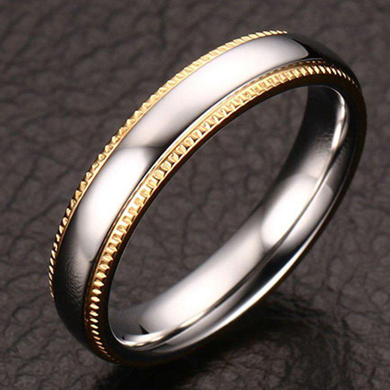 Polished Textured Edge Ring - SILVER