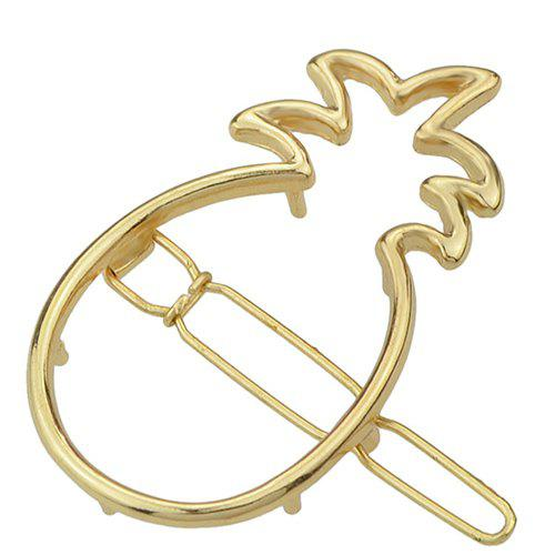 Sweet Hollowed Ananas Hairpin For Women - GOLDEN
