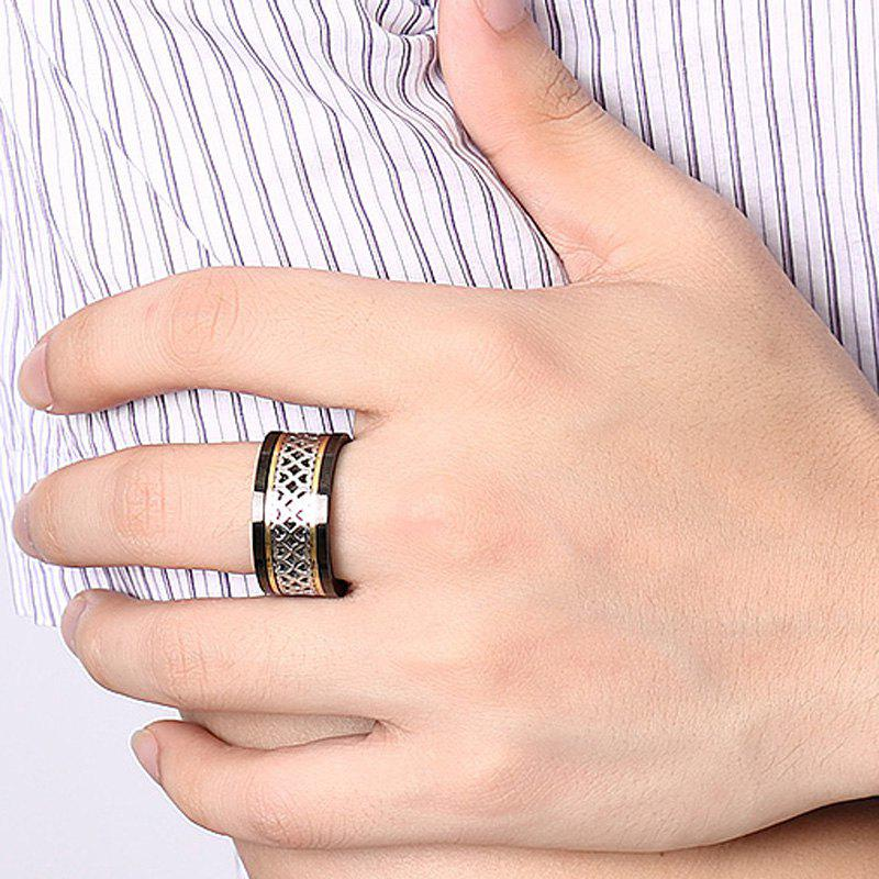 Characteristic Heart Cut Out Turnable Ring For Men -  BLACK