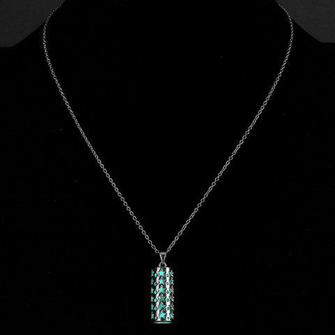 Stylish Star Geometric Pendant  Noctilucent Necklace For Women