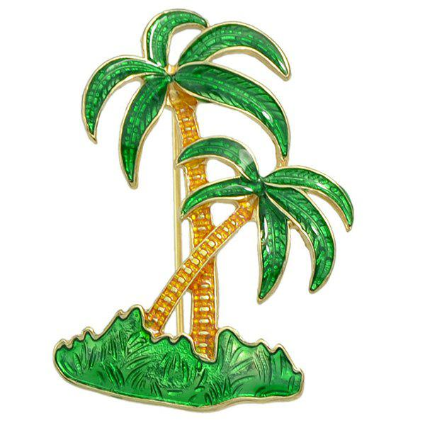 Gorgeous Coconut Tree Brooch For Women