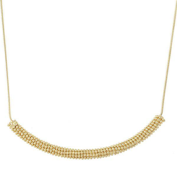 Elegant Solid Color Bead Hollowed Necklace For Women - GOLDEN