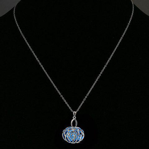 Filigree Rose Noctilucent Pendant Necklace