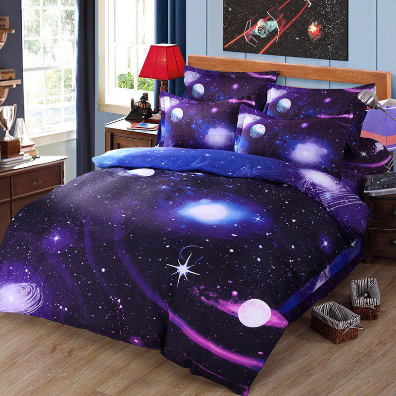 Chic 3D Galaxy Pattern Duvet Cover 4 PCS Bedding ( Without Comforter )