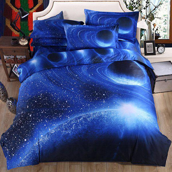 Hot Sale 3D Starry Planets Pattern Duvet Cover 4 PCS Bedding ( Without Comforter ) - COLORMIX