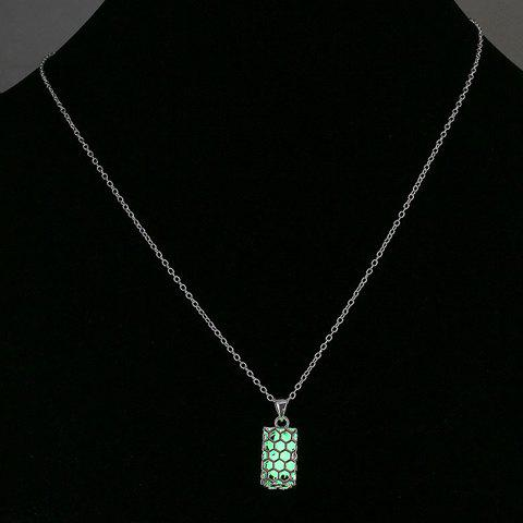 Noctilucent Honeycomb Structure Necklace - NEON GREEN