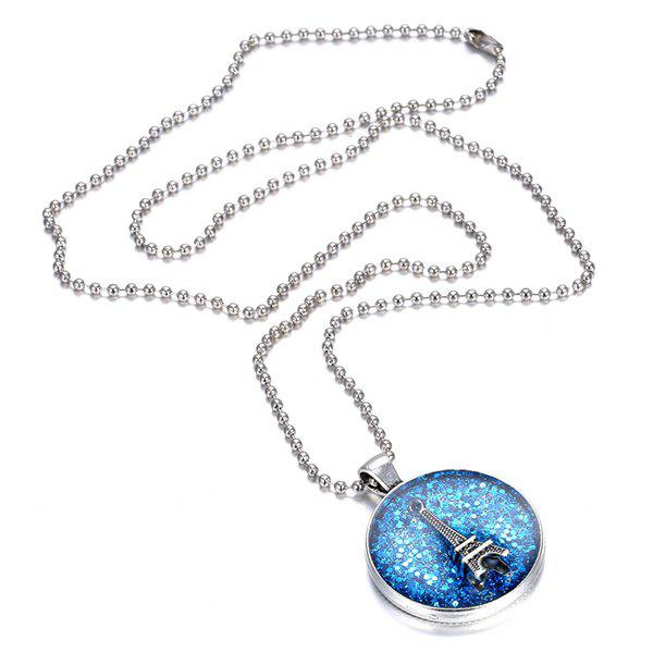 Charming Eiffel Tower Pendant Necklace For Women - BLUE