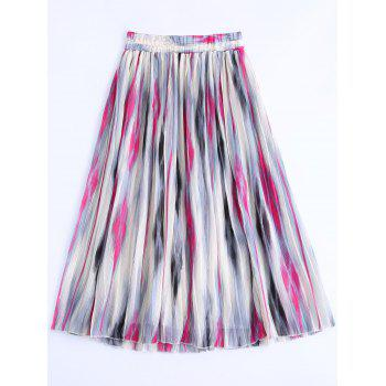 Women's Elastic Waist Printed Skirt