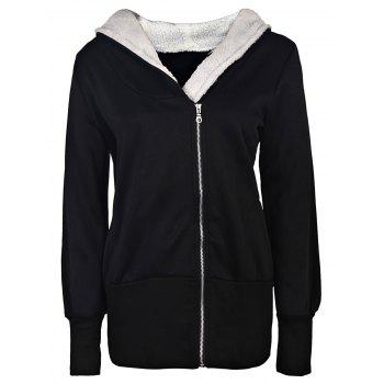Casual Long Sleeve Hooded Women's Zip Up Hoodie