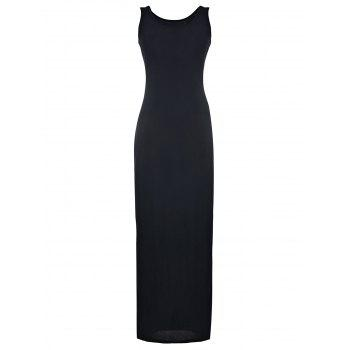 Sexy U Neck Sleeveless Bodycon Pure Color Women's Dress