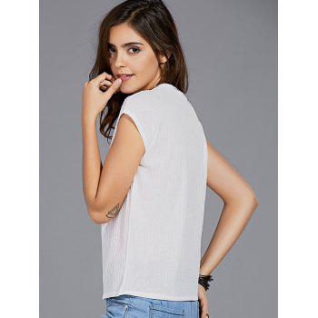 Leisure Style Round Neck Slimming Letter Print Women's T-Shirt - WHITE ONE SIZE(FIT SIZE XS TO M)
