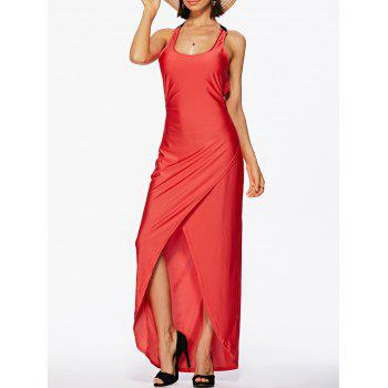 Alluring Backless Scoop Neck Sleeveless Women's Dress