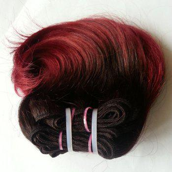 Trendy Ombre Body Wave 1 Pcs 6A Virgin Chinese Hair Weave For Women - COLORMIX 8INCH