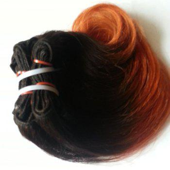 Trendy Body Wave Ombre 1 Pcs 6A Virgin Chinese Hair Weave For Women - COLORMIX 8INCH