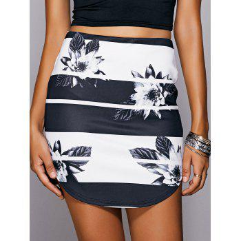 Casual Women's Floral Print Mini Skirt