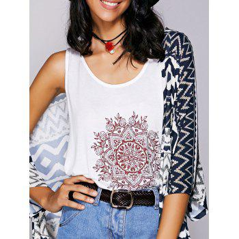 Casual  Scoop Neck Printed Tank Top For Women
