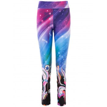 High Waist Trippy Print Bodycon Yoga Pants For Women
