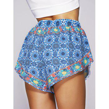 Bohemian Style Ethnic Print Shorts For Women - COLORMIX M
