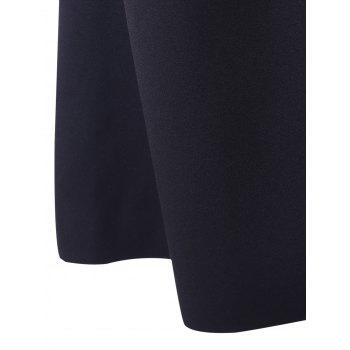Bell Bottom Stretchy Trousers - BLACK M