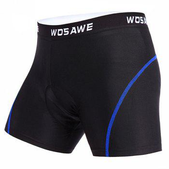Hot 3D Sponge Padded Undershorts Men's Cycling Shorts For Outdoor Sport - BLUE BLUE