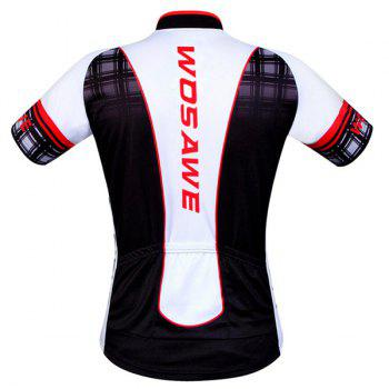 Hot Summer Sportswear Jerseys+Shorts Plaid Pattern Cycling Sets For Outdoor Sport - 2XL 2XL