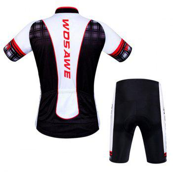 Hot Summer Sportswear Jerseys+Shorts Plaid Pattern Cycling Sets For Outdoor Sport - RED XL