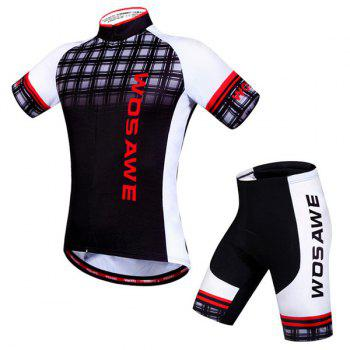 Hot Summer Sportswear Jerseys+Shorts Plaid Pattern Cycling Sets For Outdoor Sport - S S