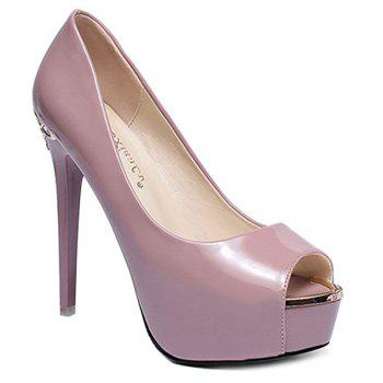 Stylish Platform and Patent Leather Design Women's Peep Toe Shoes