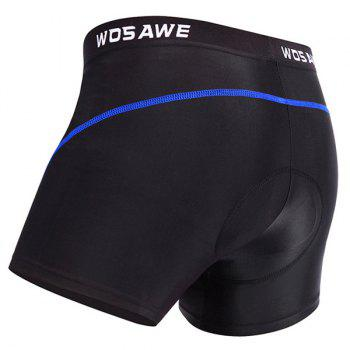 Hot 3D Sponge Padded Undershorts Men's Cycling Shorts For Outdoor Sport - BLUE L