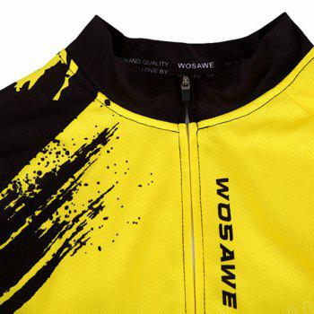 Hot Summer Clothing Jerseys+Shorts Men's Cycling Sets For Outdoor Sport - YELLOW/BLACK XL
