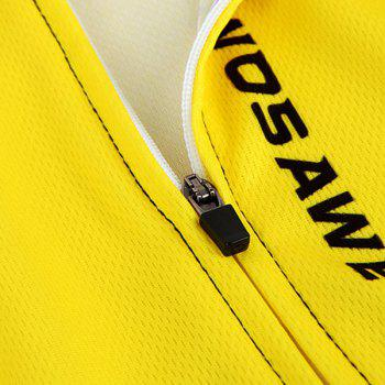Hot Summer Clothing Jerseys+Shorts Men's Cycling Sets For Outdoor Sport - YELLOW/BLACK M