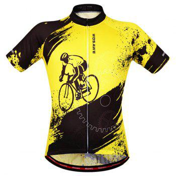 Hot Summer Clothing Jerseys+Shorts Men's Cycling Sets For Outdoor Sport - YELLOW/BLACK S