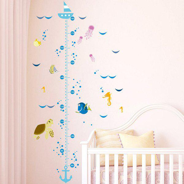 Fashion Ocean Cartoon Animals Pattern Height Wall Sticker For Children's Bedroom Decoration - COLORMIX