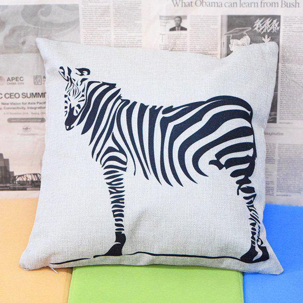 Simple Design Zebra Pattern Square Shape Pillowcase